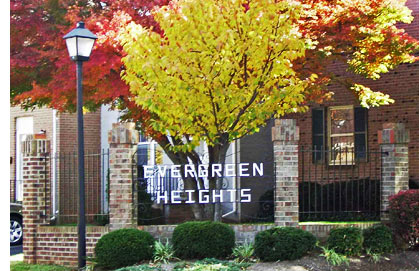 Evergreen Heights in fall