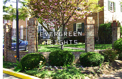 Evergreen Heights in winter